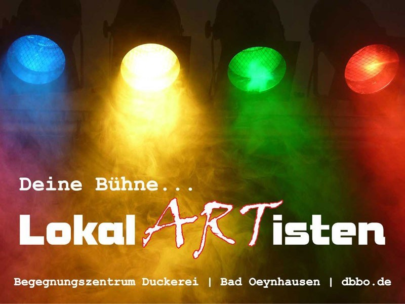 Lokalartisten in der Druckerei Bad Oeynhausen